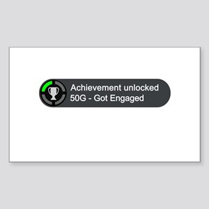 Got Engaged (Achievement) Sticker (Rectangle)