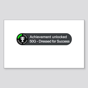 Dressed for Success (Achievement) Sticker (Rectang