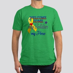 Welcome Home Soldier Hero Men's Fitted T-Shirt (da