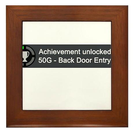 Backdoor Entry (Achievement) Framed Tile