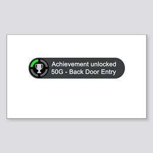 Backdoor Entry (Achievement) Sticker (Rectangle)