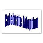 Celebrate Adoption Rectangle Sticker