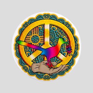 PEACE ROADRUNNER Button