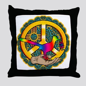 PEACE ROADRUNNER Throw Pillow