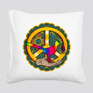 PEACE ROADRUNNER Square Canvas Pillow