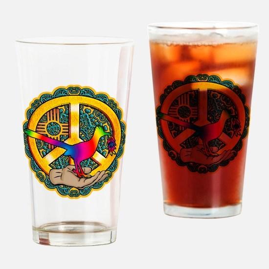 PEACE ROADRUNNER Drinking Glass