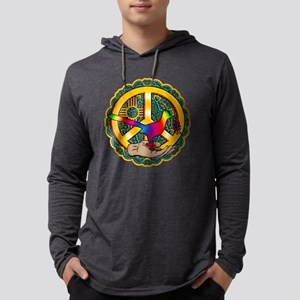 PEACE ROADRUNNER Mens Hooded Shirt