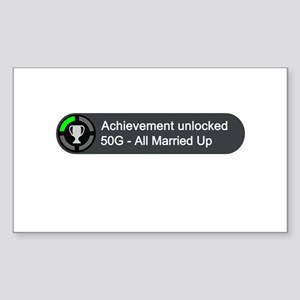 All Married Up (Achievement) Sticker (Rectangle)