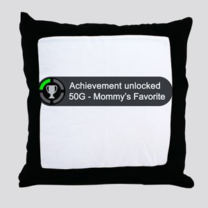 Mommys Favorite (Achievement) Throw Pillow