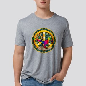PEACE ROADRUNNER Mens Tri-blend T-Shirt
