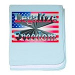 Legalize Freedom baby blanket