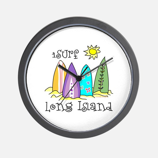 I Surf Long Island Wall Clock