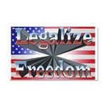 Legalize Freedom Car Magnet 20 x 12