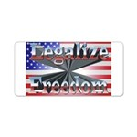 Legalize Freedom Aluminum License Plate