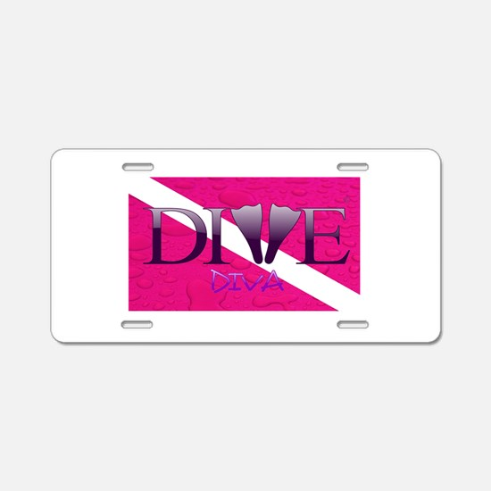 Dive Diva Fins Aluminum License Plate