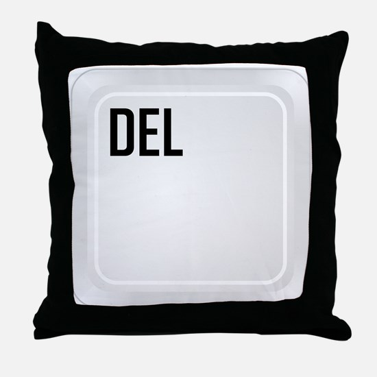 DEL (top corner) Throw Pillow