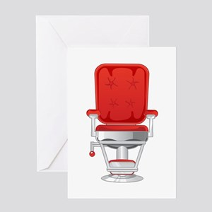 Barber's Chair Barber Shop Greeting Card