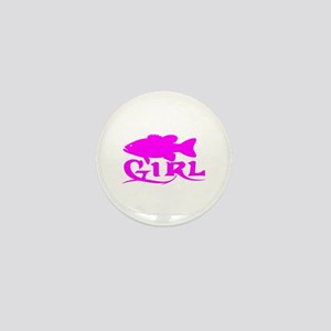 BASS GIRL Mini Button