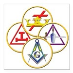 "York Rite Square Car Magnet 3"" x 3"""