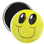 Vintage Smiling Smiley Face Magnet