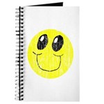 Vintage Smiling Smiley Face Journal