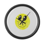 Vintage Smiling Smiley Face Large Wall Clock
