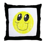 Vintage Smiling Smiley Face Throw Pillow