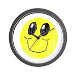 Vintage Smiling Smiley Face Wall Clock