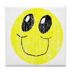 Vintage Smiling Smiley Face Tile Coaster