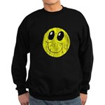 Vintage Smiling Smiley Face Sweatshirt (dark)