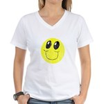 Vintage Smiling Smiley Face Women's V-Neck T-Shirt