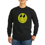 Vintage Smiling Smiley Face Long Sleeve Dark T-Shi