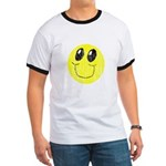Vintage Smiling Smiley Face Ringer T