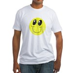 Vintage Smiling Smiley Face Fitted T-Shirt