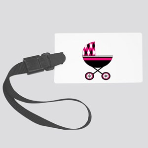 Pink Stroller Large Luggage Tag