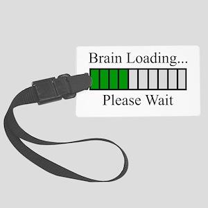 Brain Loading Bar Large Luggage Tag