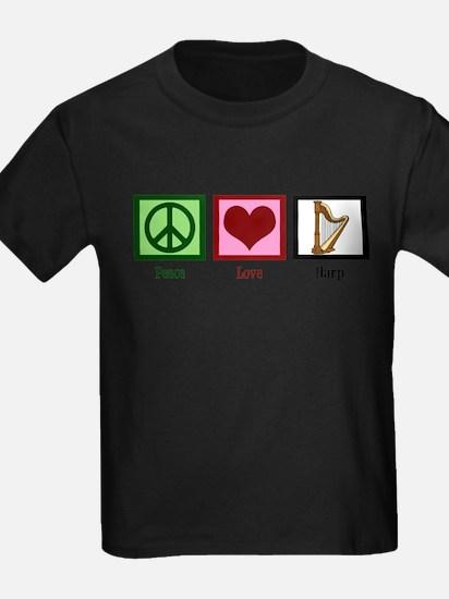 Peace Love Harp T-Shirt