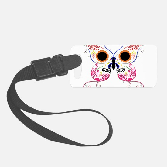 Sugar Skull Multi Color Butterfly.png Luggage Tag
