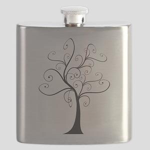 Swirly Tree Flask