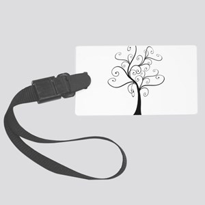 Swirly Tree Large Luggage Tag