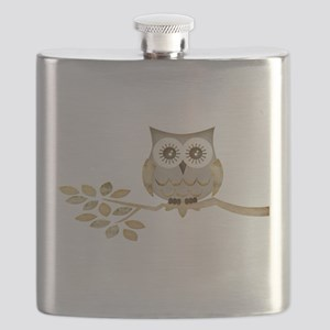 Apothecary Owl Branch 1 copy Flask