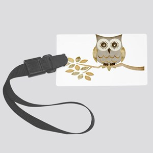Apothecary Owl Branch 1 copy Large Luggage Tag