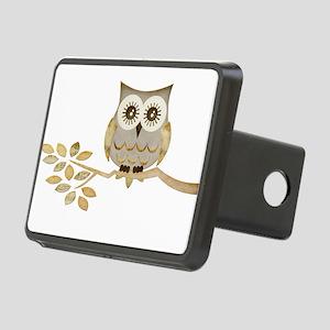 Apothecary Owl Branch 1 copy Rectangular Hitch