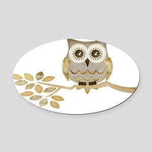 Apothecary Owl Branch 1 copy Oval Car Magnet