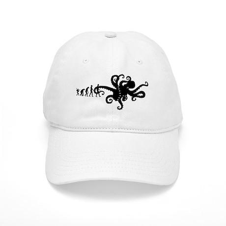 Evolution of Man Joke - Octopus Baseball Cap by NeedfulWants bee3ad2d5cd