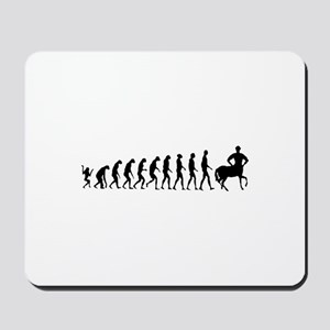 Evolution of Man Joke - Centaur Mousepad