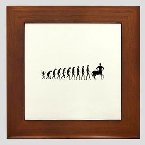 Evolution of Man Joke - Centaur Framed Tile