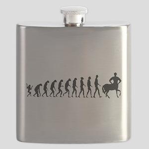 Evolution of Man Joke - Centaur Flask