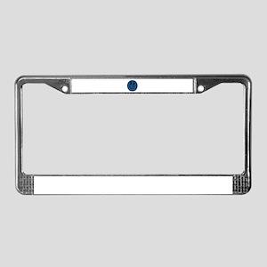 Blue Jeans Smiley License Plate Frame