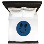 Blue Jeans Smiley King Duvet